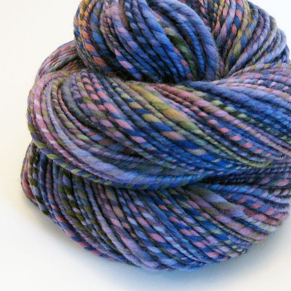Handspun Yarn - Blueberry Patch - 165 Yards