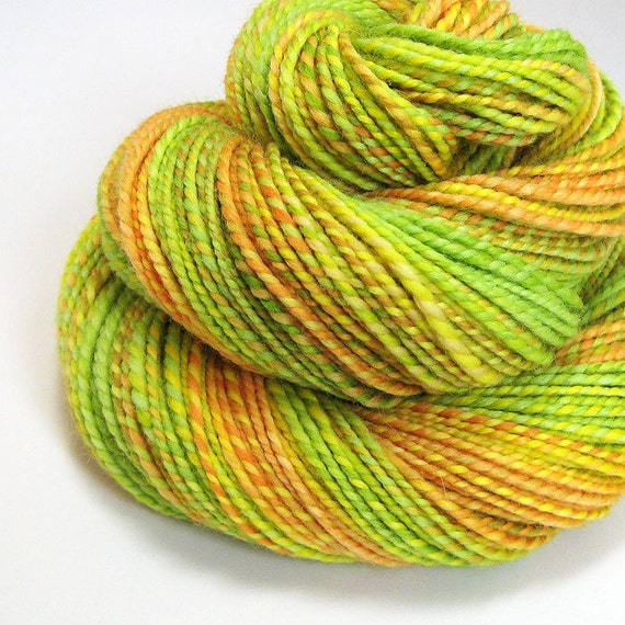 Handspun Yarn - Citrus Splash - 145 Yards
