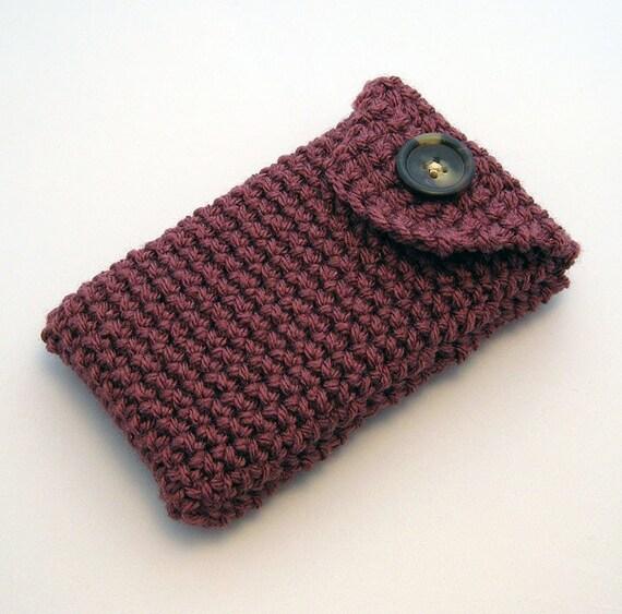 crochet nintendo dsi 3ds ds lite case dark rose. Black Bedroom Furniture Sets. Home Design Ideas