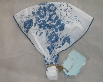 Cappuccino blue french floral