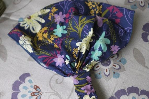 ZuZu's petals floral sihouette cappuccino headband no tie bandana scarf