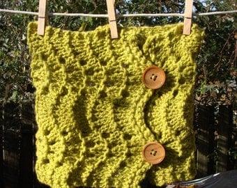 SALE golden delicious handknit lace neckwarmer