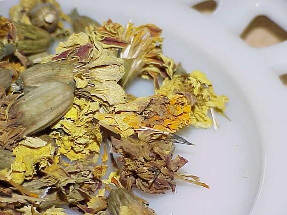 Calendula Organic French Marigold Flower Heads  1 oz packet
