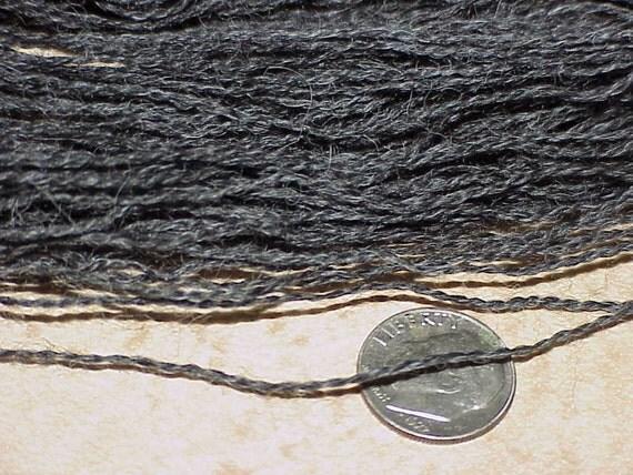 SALE - Suri Alpaca Organic Lace Weight Yarn 118 yds (Natural Dark Steel Gray)