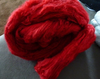 Really Red Hand Dyed Mulberry Silk Top