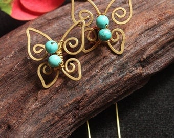 Small Butterfly - turquoise