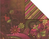 2 SHEETS \/ 12 x 12 \/ Scrapbooking Card stock by Prima \/ Urban Cosmos \/ Ethnic