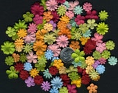 100 Sweet N Sassy Prima Flower Mix / Scrapbooking Flower Embellishments