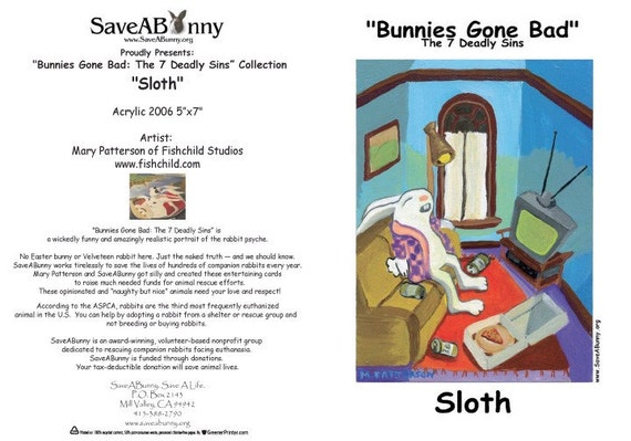Bunnies Gone Bad-The Seven Deadly Sins-- Package of 14
