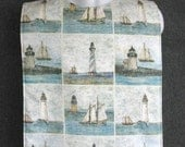 Lighthouse and Sailboats  Adult Bib / Clothing Protector