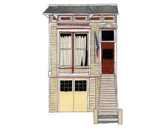 Town House, Castro District, San Francisco - Postcard