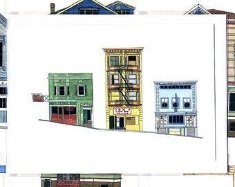San Francisco Street - Notecard