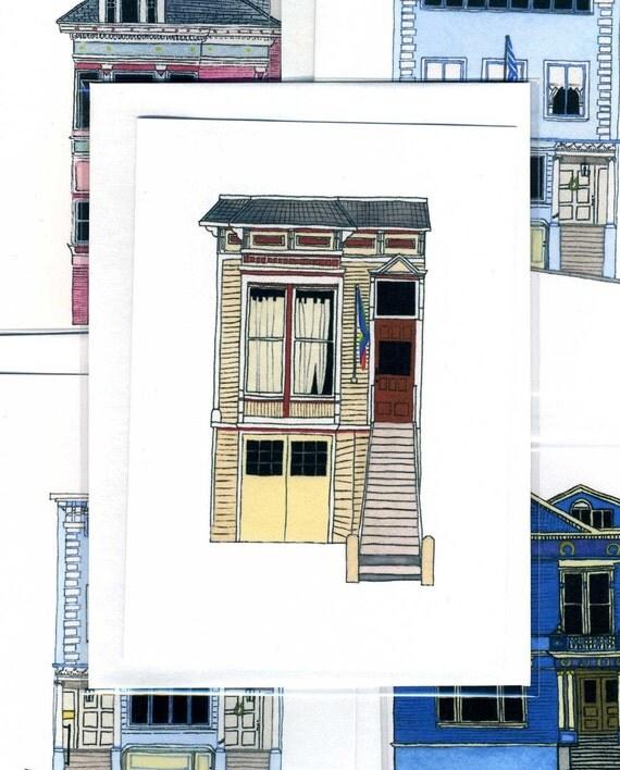 Town House, Castro District, San Francisco - Notecard