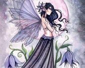 Orchid of the Night Fairy Art Original Limited Edition ACEO Print