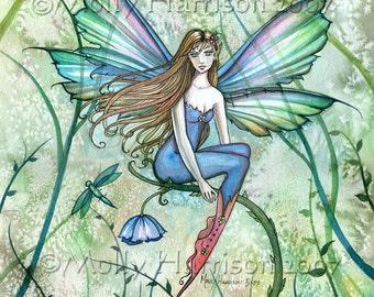 Fairy Fine Art Fantasy Print by Molly Harrison 9 x 12  'Fairy in the Vines'