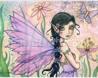 Lily of Love Fairy Art Original Fine Art Giclee Print 5 x 7