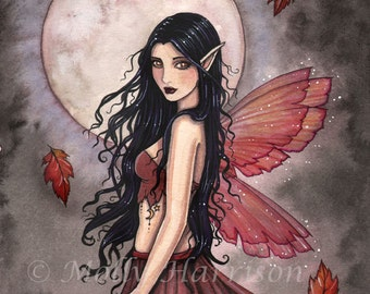 Fairy Print -  Touch of Autumn Fairy Art Print 8 x 10 Archival Giclee Print by Molly Harrison
