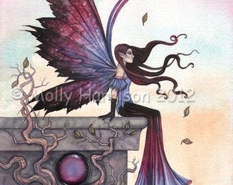 Fairy Print - Amethyst Dream - Fine Art Giclee Print by Molly Harrison 9 x 12
