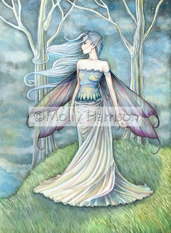 Fairy Fantasy Art Print by Molly Harrison 'Eternity' - Beautiful Watercolor Fairy - Faery, Fairies, Fantasy Artwork, Fae