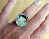 Waiting Girl  -  adjustable ring