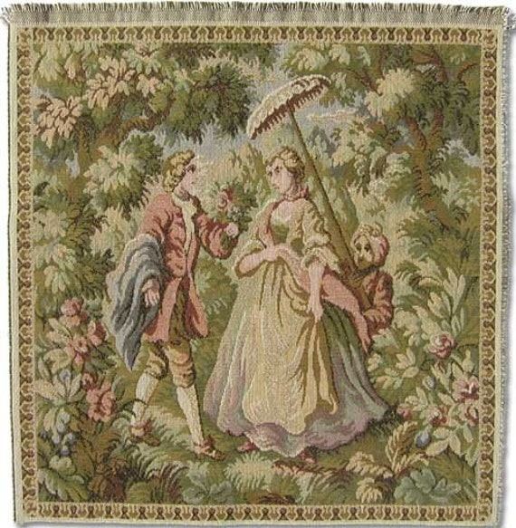 Items Similar To Tapestry Upholstery Fabric Panel Lady