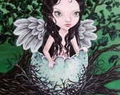 Dryad - the oak tree fairy - 5x7 PRINT of an original acrylic painting by Tanya Bond