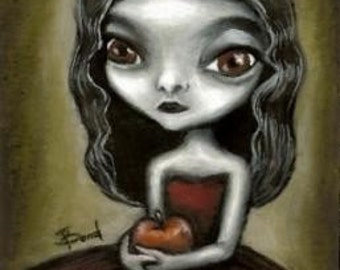 Vampire girl - print of painting by Tanya Bond