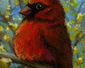 Cardinal - 5x7 ART PRINT of painting by Tanya Bond