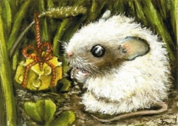PERFECT birthday PRESENT - ACEO print of painting by Tanya Bond