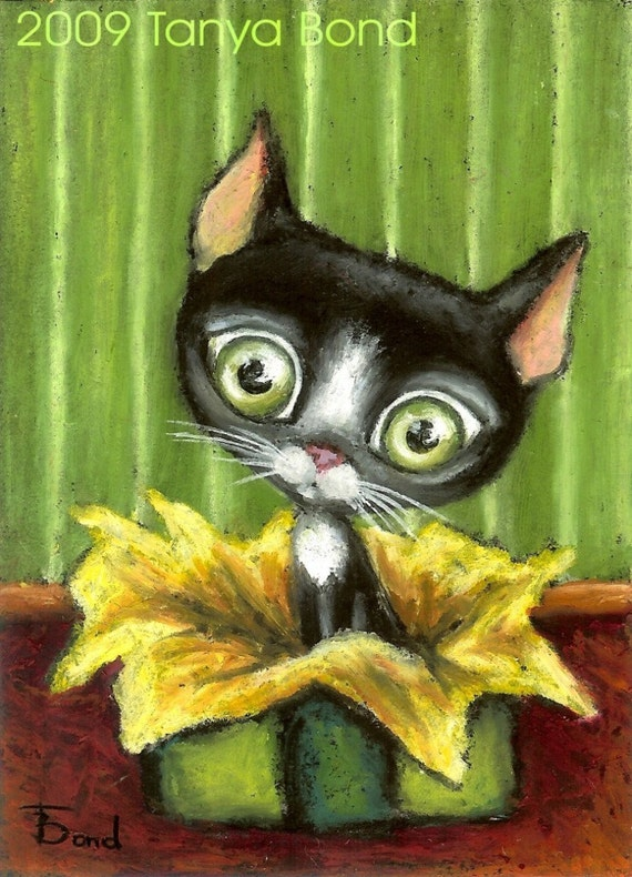 Someone lucky enough got Little Kitty as a birthday gift LKA No1 by Tanya Bond - SALE-SALE-SALE