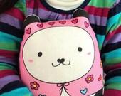 """Pandita """"kawaii"""" matryoshka doll/pillow/plush/softie/decor (pink)---grande size -- (ship in 3 days)"""