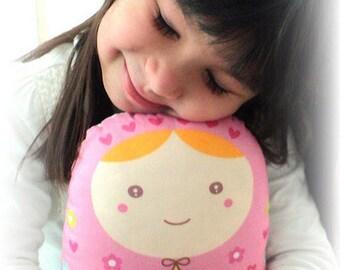 Carminita -- matryoshka doll/pillow/plush/softie/decor ---grande size