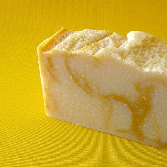 Satsuma Sunrise Soap with Silk (bright citrus)