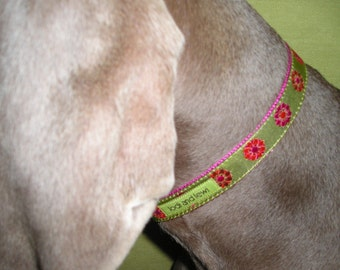 Dahlia Collar in Chartreuse