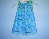 Blue Rock and Roll Toddler Dress or Girl's Tunic Top ONE SIZE Fits All from 18 months to girl's 10