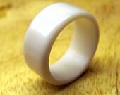 White Hard Surface Ring, White Ring, Custom Made Ring, Mens Ring, Womens Ring, Unique Ring, Corian Ring, Statement Ring