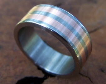 Titanium and Copper Inlay Band