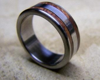 Titanium Ring, Wood Ring, Wedding Ring, Manzanita Ring, Mens Ring, Womens Ring, Custom Made Ring, Engagement Ring, Mens Wedding Ring