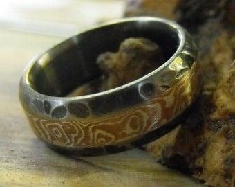 Titanium Ring, Mokume Gane Ring, Mokume Ring, Mens Ring, Womens Ring, Wedding Ring, Handmade Ring, Engagement Ring, Wedding Band, Engraved