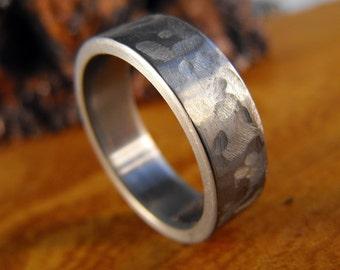 Titanium Ring, Wedding Ring, Custom Made Ring, Mens Ring, Womens Ring, Textured Ring, Handmade Ring, Wedding Band, Personalized Ring