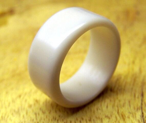 White Hard Surface Ring, White Ring, Custom Made Ring, Mens Ring, Womens Ring, Unique Ring, Corian Ring, Statement Ring, Fashion Ring