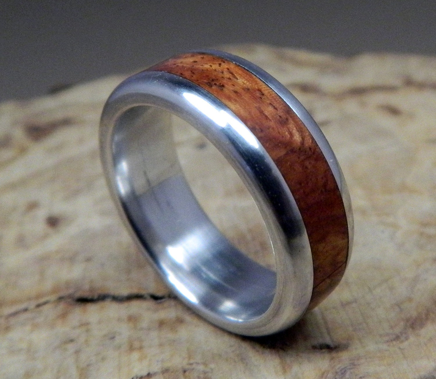 wood ring aluminum ring wedding ring wooden ring wood