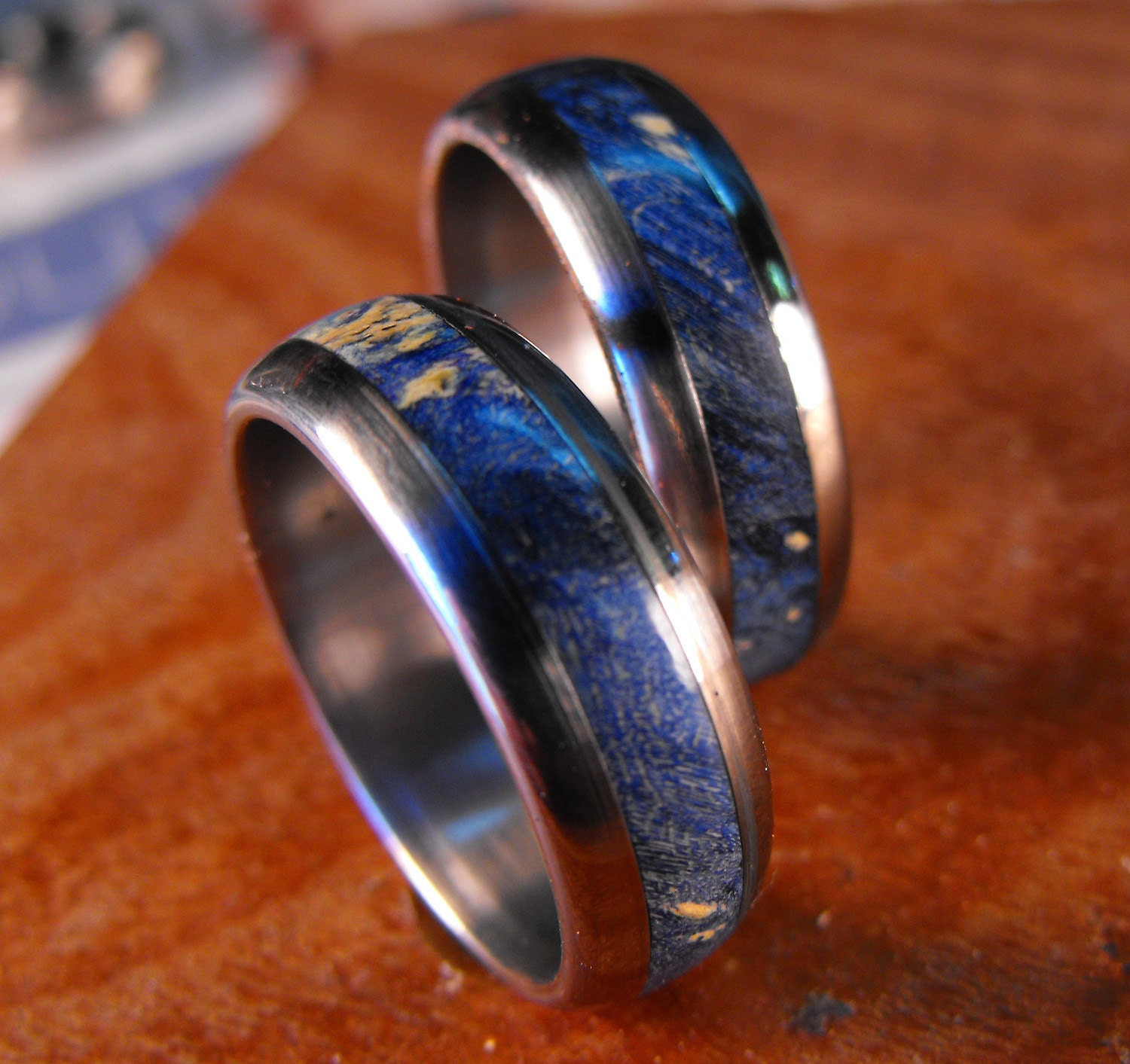 Titanium Rings Wedding Rings Wedding Ring Set His and Hers