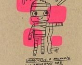 MONSTER KIDS Mummy card