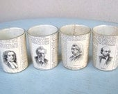 Dictionary Tea Lights - Austere French People