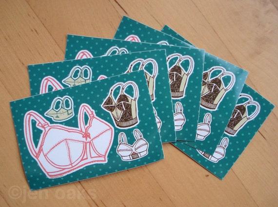 Fancy Bra Stickers - 5-pack