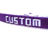Custom Woven Friendship Bracelet
