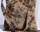Tapestry Slouch Sholder Bag With Fringe