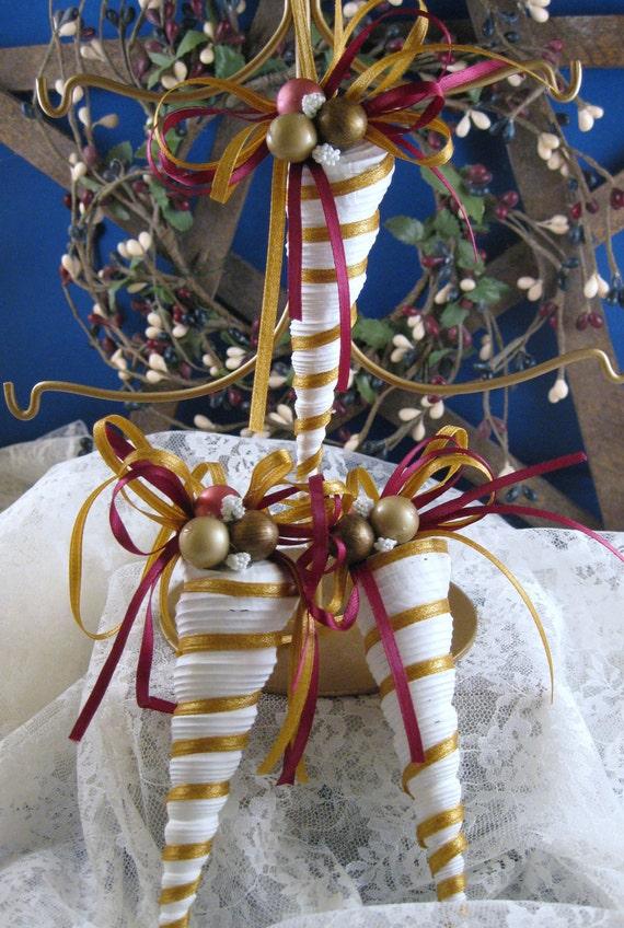 Natural Turitella Seashells Christmas Holiday Ornaments