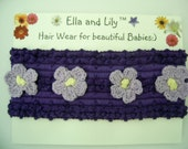 Ella and Lily Purple Flower Power Baby Girl Headband One size fits all Christmas Gift